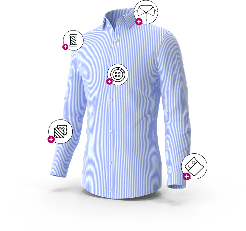 Shirt style selector for e-commerce